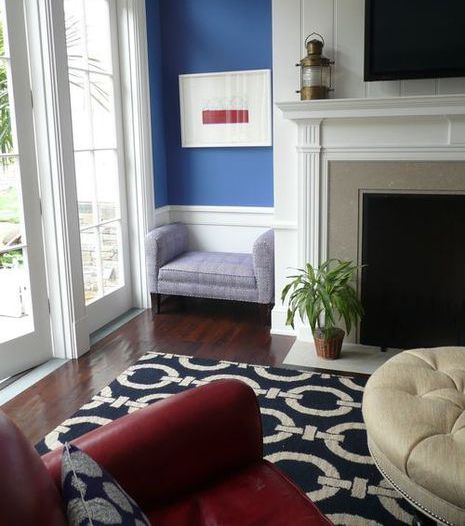 Red White And Two Shades Of Blue Decor Modhomeec