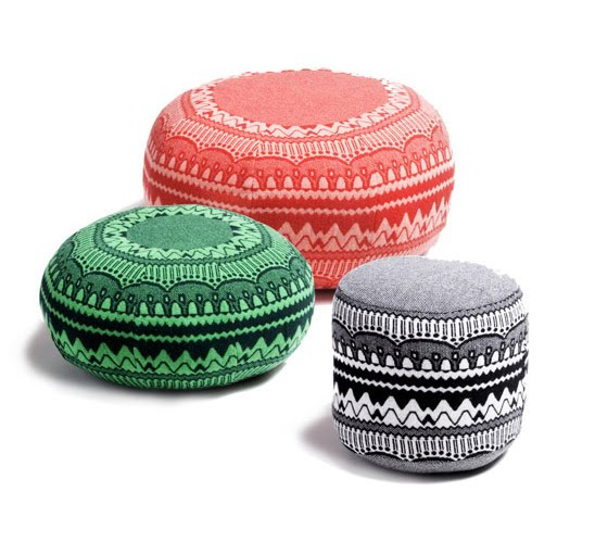 Think About Making Your Own Knock Off Poufs ModHomeEc Impressive Amy Butler Pouf Ottoman