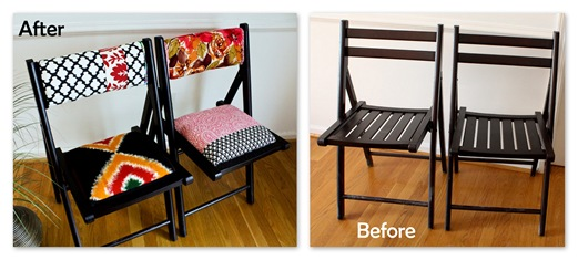 Upholstered Wooden Folding Chairs folding chairs a must have for small spaces | modhomeec
