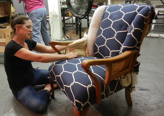 Brand new upholstery classes and workshops modhomeec for Furniture upholstery course