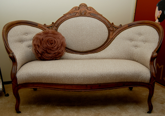 Bare Bones Furniture >> The Reupholstery of Beth's Antique Settee | ModHomeEc