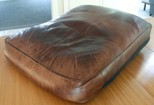 Flattened Down Leather Sofa Cushions