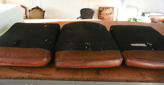 Fix Flattened DOWN Leather Sofa Cushions | ModHomeEc
