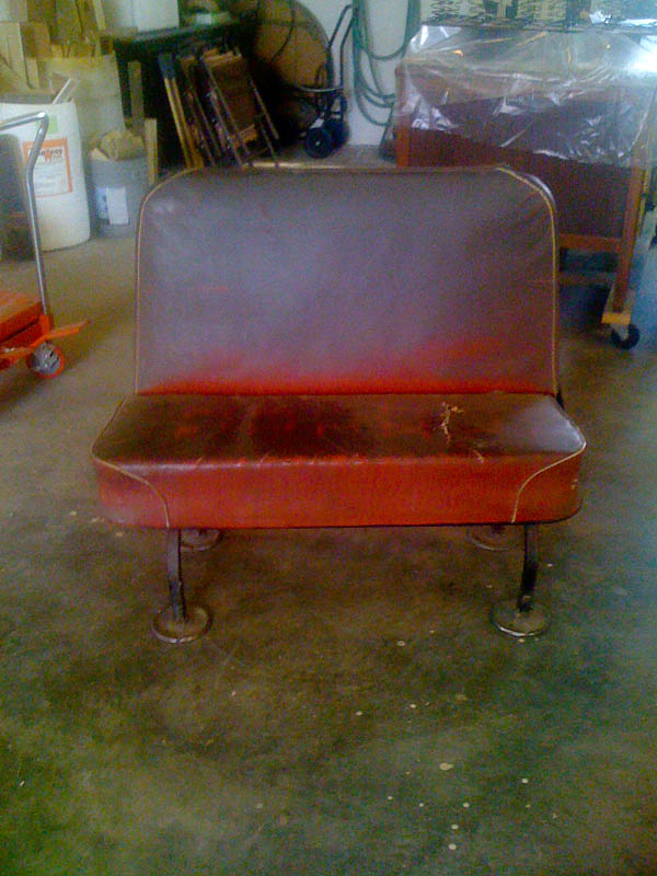 Antique Bus Seats : Tattered bus seats get a big time makeover modhomeec