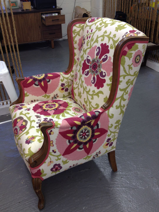 how do you reupholster a wingback chair 1
